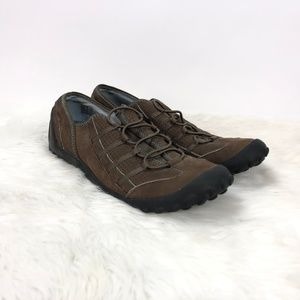 Pr!vo Clarks Brown Leather Comfort Walking Shoes